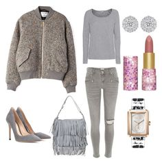 Solid Grey by moarbaje on Polyvore featuring Splendid, Acne Studios, River Island, Gianvito Rossi, Topshop and tarte