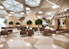 """Деревянные """"коконы"""" в новом терминале аэропорта Баку, Buro 24/7"""