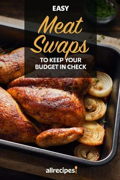 """Easy Meat Swaps to Keep Your Budget in Check   """"We rounded up the less expensive cuts of beef, lamb, pork and chicken that can be prepared the same way as their pricier counterparts and yield an equally delicious dinner."""" #cheaprecipes #cheapmeals #budgetfriendly #budgetrecipes #frugalcooking #frugalmeals #cheapdinnerideas #cheap #budget #economical #frugal Frugal Meals, Budget Meals, Lamb Shoulder Chops, Cut Recipe, Lamb Ribs, Cheap Meat, Wagyu Beef, Cheap Recipes, Cheap Dinners"""