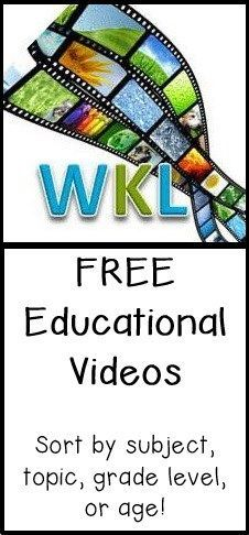 WKL has FREE Educational Videos that are Common Core aligned for ages 3-18. Click through to learn a little more about the site and to see all the awesome availability!