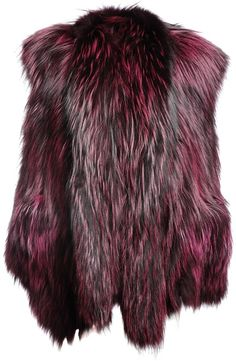 Fox Fur Oversized Gilet - Lyst