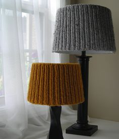 Knitting Pattern PDF - Simplicity Lampshade Covers for shades in five sizes - lighting - lampshade cozy. $4.95, via Etsy.