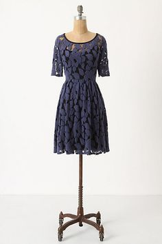 Lace dress from Anthropologie #fashion #fall #dresses