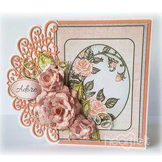 Heartfelt Creations - Adorable Peach Roses Project