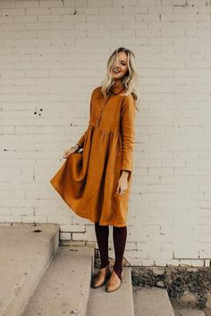 The Delacour Dress in Copper Source by dresses Modest Outfits, Modest Fashion, Casual Outfits, Cute Outfits, Modest Dresses, Girly Outfits, Looks Style, Style Me, Look Fashion