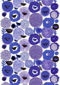 (via print & pattern: DESIGNER - matti pikkujämsä Motifs Textiles, Textile Prints, Textile Patterns, Textile Design, Lino Prints, Block Prints, Prints And Patterns, Abstract Pattern, Pattern Art