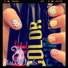 Rainbow Color Run Nails