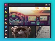 Muzli for Ipad (Concept) by Eyal Zuri Fortune Magazine, Ui Web, User Interface Design, Future Car, Interactive Design, Mobile Ui, Web Design, Ipad, Concept