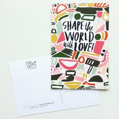 Celebrate love over fear — and donate to anti-gun violence organizations— via the Love Is Mightier postcard project, spearheaded by Emily Blistein of Clementine Store, with designs in the first set from design heavyweights Amy Heitman Illustration + Design, Idlewild Co , Thimblepress (shown), The Nic Studio, Printerette Press, Steel Petal Press, Happy Cactus Designs, May Day Studio, Power and Light Press and Hartland Brooklyn.