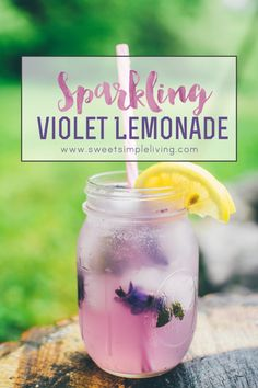 Sparkling Violet Lemonade - Sweet Simple Living