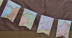 live. love. scrap.: Vintage Map Bunting DIY