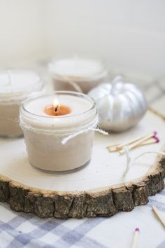 How to Make Homemade Pumpkin Spice Candles