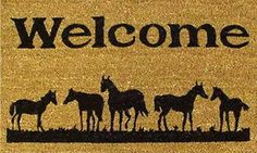 Home & More 12029 Horses Welcome Doormat Home and More http://www.amazon.com/dp/B008EM88BE/ref=cm_sw_r_pi_dp_5MVpub0F1AAF2