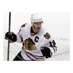 It's personal for Chicago Blackhawks captain Jonathan Toews ❤ liked on Polyvore featuring hockey players and jonathan toews