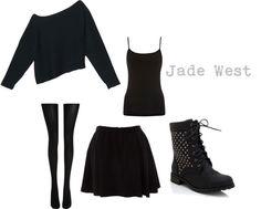 A Jade West inspired outfit Weird Fashion, Dark Fashion, Grunge Fashion, Fashion Looks, Punk Outfits, Gothic Outfits, Cool Outfits, Fashion Outfits, Grunge Outfits