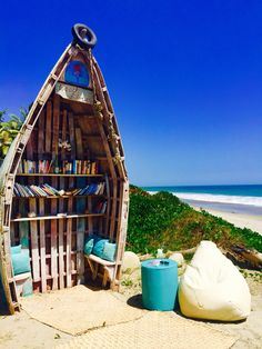 Incredible beach library!! Hotel DCO Mancora, Peru✨✨