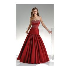 Formal Ball Attire ❤ liked on Polyvore featuring dresses, gowns, dresses - gowns, red ball gown, cocktail dresses, formal ball gowns, red dress and evening gowns