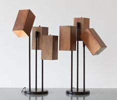 Rough Mid Century Lamps from Zeitlos Berlin.