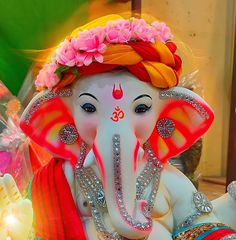 Shri Ganesh Images, Sri Ganesh, Ganesha Pictures, Lord Ganesha, Ganesh Chaturthi Status, Happy Ganesh Chaturthi Images, Pastel Color Wallpaper, Colorful Wallpaper, Ganpati Bappa Photo