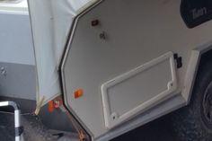 Fast setup awning for TVAN Mark 11 and 111 - Caravan Ideas Caravan Awnings, Caravan Ideas, Bathtub, Standing Bath, Bathtubs, Caravan Porch Awnings, Bath Tube, Bath Tub, Tub