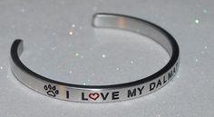 I Love My Dalmatian |:| Handmade & Polished Bracelet