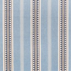 blue woven stripe fabric for upholstery and window treatments.  www.tonicliving.com we ship worldwide (fabric by the yard or ready-made pillow options available)