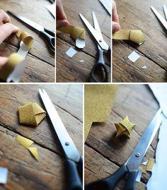 Vik pappersstjärna, papperspyssel, paper craft, paper diy, diy, pyssel, pappersstjärna, origami,