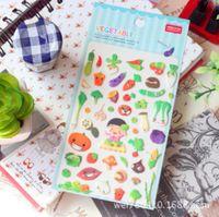 2014 echte 260 muster importiert yeehyun gc02- Frozen partei schwamm blase Tagebuch dekorativen aufkleber grünes Blattgemüse pv-03