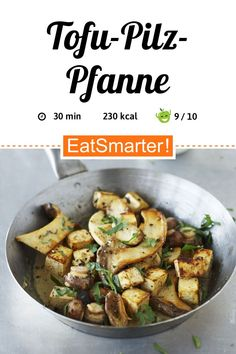 Tofu-Pilz-Pfanne - smarter - Kalorien: 230 kcal - Zeit: 30 Min.   eatsmarter.de Eat Smarter, Meatless Monday, Kung Pao Chicken, Green Beans, Healthy Lifestyle, Food And Drink, Salad, Dinner, Vegetables