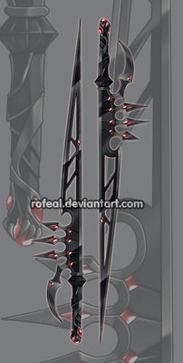 ExtraWeapon by Rofeal on DeviantArt Anime Weapons, Sci Fi Weapons, Weapon Concept Art, Weapons Guns, Fantasy Armor, Fantasy Weapons, Fantasy Sword, Cool Swords, Sword Design