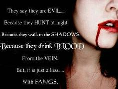 a Kiss with Fangs Vampire Love, Female Vampire, Gothic Vampire, Vampire Pictures, Gothic Pictures, Guy Pictures, Day Walker, Place Quotes, Soul Game
