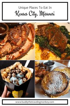 We were amazed with the amount of unique places to eat in Kansas City, Missouri! Yes, there s great barbecue. In this post, we highlight the yummiest and most fun restaurants in Kansas City. via BuddyTTMonkey Kansas City Restaurants, Fun Restaurants, Kansas City Missouri, Dodge City Kansas, North Kansas City, Cool Restaurant, Best Places To Eat, Food Places, Foodie Travel
