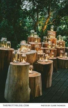 #candels #wood #lights
