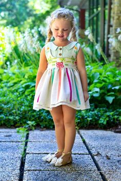 Vintage Back to School: Alexandra + Autumn Bundle & Alexandra Bow Baby Girl Dresses, Baby Dress, Girl Outfits, Flower Girl Dresses, Dolly Fashion, Baby Girl Fashion, Baby Girl Haircuts, Crochet Toddler, School Dresses