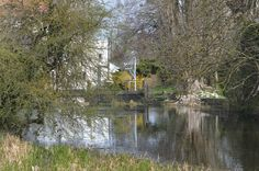 Looking down towards the Mill House from the far end of the Mill Pond.