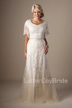 30069ea50e850 Great Gatsby wedding gown , style Penelope, is part of the Wedding  Collection of LatterDayBride
