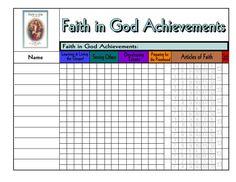 Faith in God for Boys Achievement chart.JPG 1056×816 pixels