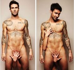 Adam Levine gets naked for prostate  testicular cancer prevention.  Christmas gift?  lol  Also, kinda concerned if she can cover him with one hand........eeeek :(