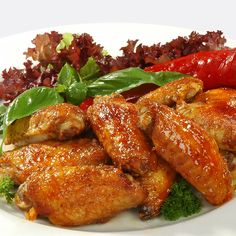 Scrumptious sticky bits of crispy chicken will keep adults and kids coming back for more.. Spicy Chicken Wings Recipe from Grandmothers Kitchen.