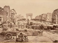 1871 - The Champs-Elysees photographed from the Porte Maillot. Illustration: Photograph: Alinari Archives/Corbis