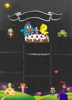 Galinha pintadinha 1st Birthday Parties, 3rd Birthday, Happy Birthday, Printable Invitation Templates, Invitation Cards, Foto Transfer, Birthday Chalkboard, Farm Party, Ideas Para Fiestas