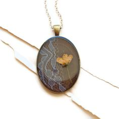 love the lace in this necklace! {resin jewelry pressed flower necklace peach real by StudioBotanica, $60.00}