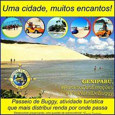 Praia de Genipabú, Extremoz, RN, Brasil.