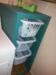 Visit the webpage to see more about diy floating shelves laundry room. Check the webpage for more. Check this website resource. Laundry Basket Organization, Laundry Room Organization, Diy Organization, Diy Storage, Organisation Ideas, Bellaire House, Mudroom Laundry Room, Floating Shelves Diy, Home Projects