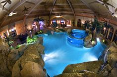 indoor swimming pool inspiration this is so cool I like this and would want something like this in a house pretty epic.