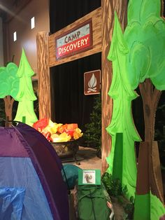 Camp Discovery VBS -our stage set-up