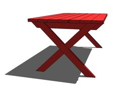 Ana White | Build a Vanessa's X Picnic Table | Free and Easy DIY Project and Furniture Plans