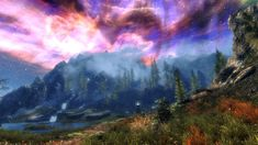 The hills of Sovngarde from The Elder Scrolls V: Skyrim | 36 Beautiful Landscapes That Prove That Video Games Are Art