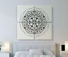 Mandala 4 Piece Quad Canvas