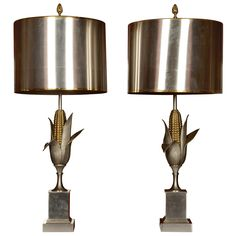 Pair of 1950's lamps by Maison Charles / Galerie Glustin